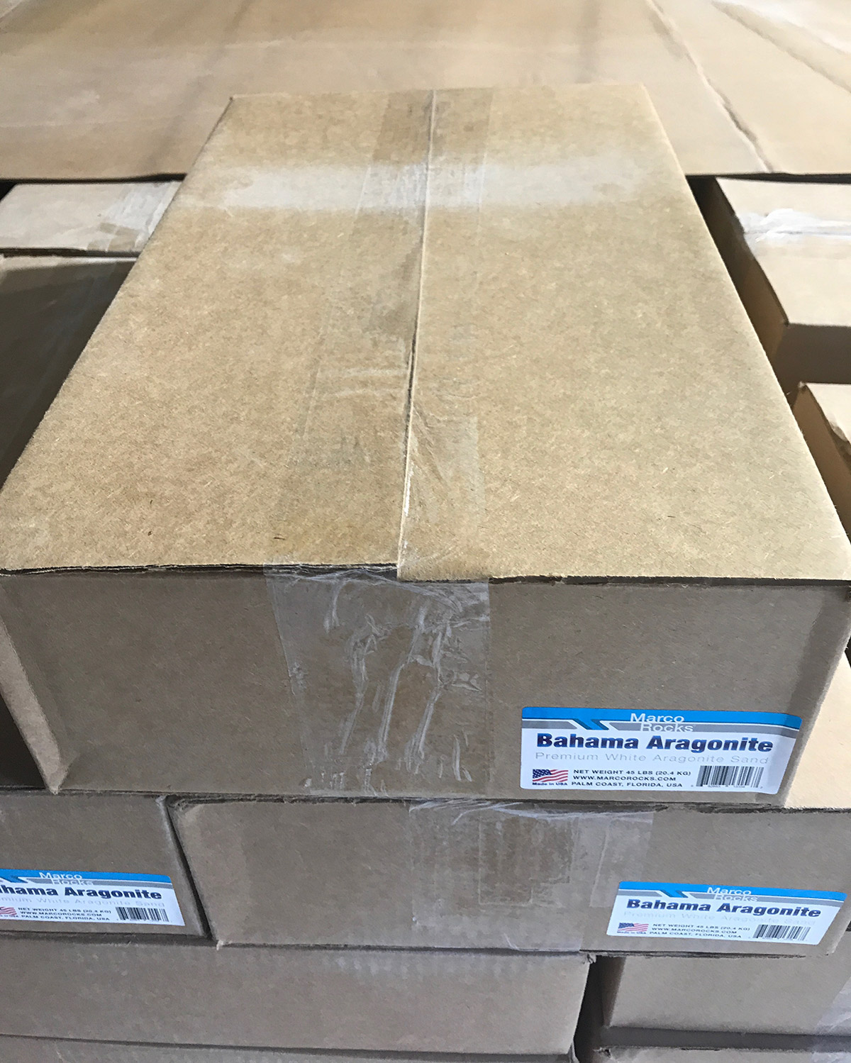 Bahama Aragonite Sand - Shipping Boxes